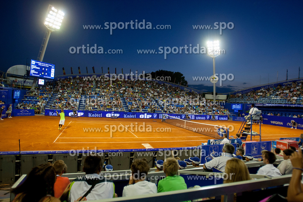 Stella Maris ATP Stadium during a tennis match against the in quarter final of singles at 24. ATP Vegeta Croatia Open 2013, on July 26, 2013, in Umag, Croatia. (Photo by Urban Urbanc / Sportida.com)