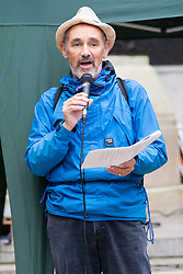© Licensed to London News Pictures. 07/10/2019. London, UK. Actor Sir Mark Rylance speaks at an Extinction Rebellion protest in St James's Park . Photo credit: George Cracknell Wright/LNP