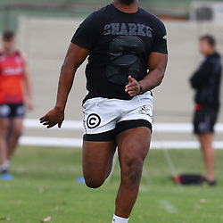 DURBAN, SOUTH AFRICA Monday 29th June 2015 -  Khaya Majola during the Cell C Sharks Conditioning training session at Growthpoint Kings Par in Durban, South Africa. (Photo by Steve Haag)