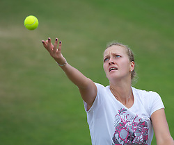 01.07.2011, Wimbledon, London, GBR, WTA Tour, Wimbledon Tennis Championships, im Bild  Petra Kvitova (CZE) practices ahead of her first Grand Slam Final match on day eleven of the Wimbledon Lawn Tennis Championships at the All England Lawn Tennis and Croquet Club. EXPA Pictures © 2011, PhotoCredit: EXPA/ Propaganda/ David Rawcliffe +++++ ATTENTION - OUT OF ENGLAND/UK +++++