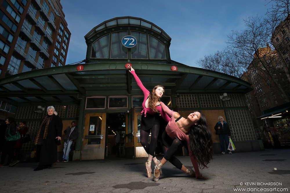 Ballerinas on 72nd Street- Dance As Art New York City Photography featuring Natalie Walters and Sylvana Tapia.