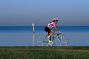 Female cyclist with helmet;<br /> Leisure Sports - Cycling,<br /> Model Released,<br /> Australia, 1993<br /> &copy; Sport the library / Jim Hooper