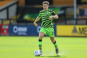 Forest Green Rovers Kyle Taylor(28),on loan from Bournemouth runs forward during the EFL Sky Bet League 2 match between Cambridge United and Forest Green Rovers at the Cambs Glass Stadium, Cambridge, England on 7 September 2019.