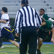 Eric	Anderson runs into the end zone during the inaugural Special Olympics DIAA Unified Flag Football Championship game, Newark Charter defeated McKean 35-28 Saturday, Dec. 03, 2016 at Delaware Stadium in Newark.