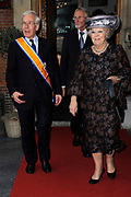 Koningin Beatrix heeft afscheid genomen van Herman Tjeenk Willink als vice-president van de Raad van State.<br />