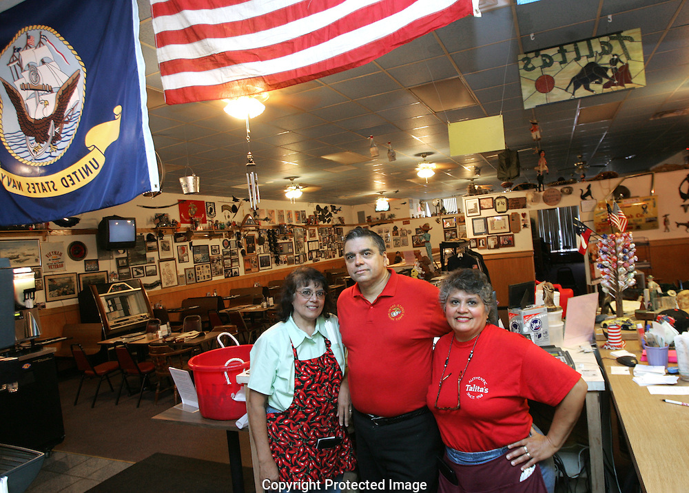 Owner Frankie Prince (center) with his sister's Toni West (left) and Diana Marie Winkler at Talita's Mexican Kitchen, 3090 Southwest Blvd., Grove City, Ohio.(Jodi Miller/Alive)