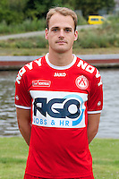 Kortrijk's Brecht Capon poses for the photographer during the 2014-2015 season photo shoot of Belgian first league soccer team KV Kortrijk, Tuesday 08 July 2014 in Kortrijk.