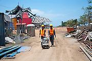 Avances de la construccion del Biomuseo de Panama. Primer edificio diseñado por Frank Gehry en America Latina. Panama, 20 de abril de 2012. (Victoria Murillo/Istmophoto)