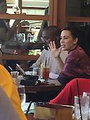 Kim kardashian and kayne west out for lunch, Nobu in Malibu