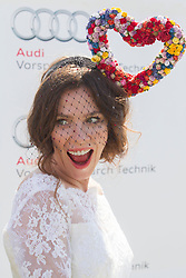 Anna Friel at Ladies Day at Glorious Goodwood in the UK  <br /> Thursday, 1st August 2013<br /> Picture by i-Images