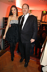 GEORGINA CHAPMAN and HARVEY WEINSTEIN at the 6th annual Lancome Colour Design Awards in association with CLIC Sargent Cancer Care held at Lindley Hall, Victoria, London on 28th November 2006.<br />