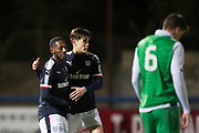 Roarie Deacon of Dundee is congratulated after scoring by Jesse Curran - Dundee v Hibernian, SPFL Under 20 Development League at Links Park, Montrose<br /> <br />  - &copy; David Young - www.davidyoungphoto.co.uk - email: davidyoungphoto@gmail.com