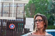 Roma, 03/11/2014:  Ilaria Cucchi all'uscita dall'incontro con il procuratore in tribunale - <br /> Murder Cucchi, the family met the prosecutor, Ilaria Cucchi.