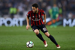 May 9, 2018 - Rome, Italy - Hakan Calhanoglu of Milan at Olimpico Stadium in Rome, Italy on May 9, 2017  during the TIM Cup Final between Juventus and AC Milan  (Credit Image: © Matteo Ciambelli/NurPhoto via ZUMA Press)