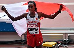 30-08-2015 CHN: IAAF World Championships Athletics day 9, Beijing<br /> Eunice Kirwa, de Keniaanse die voor Bahrein uitkomt pakte het brons op de marathon<br /> Photo by Ronald Hoogendoorn / Sportida