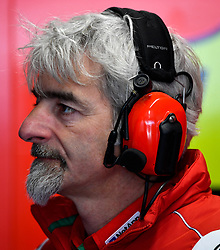 October 26, 2018 - Melbourne, Victoria, Australia - Ducati Team boss Gigi Dall'Igna watches the monitors during day 2 of the 2018 Australian MotoGP held at Phillip Island, Australia. (Credit Image: © Theo Karanikos/ZUMA Wire)