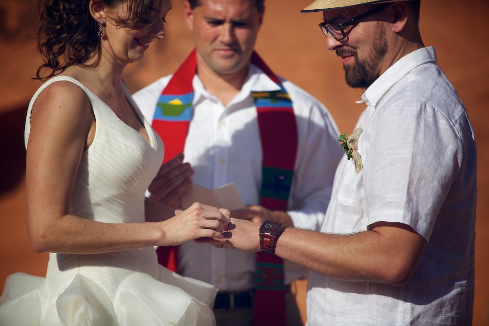 photos of the wedding, Cameo and Chris.