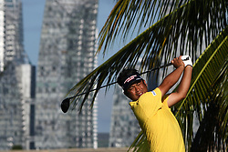 SINGAPORE, Jan. 17, 2019  Japan's player Yuta Ikeda competes during the first day of competition at the SMBC Singapore Open held in Singapore's Sentosa Golf Club on Jan 17, 2019. (Credit Image: © Then Chih Wey/Xinhua via ZUMA Wire)
