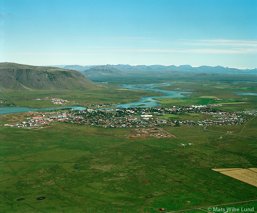 Selfoss / Árborg, Ölfusá 2001.Selfoss, Arborg, river Ólfusa
