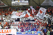 DESCRIZIONE : Campionato 2014/15 Giorgio Tesi Group Pistoia - Acqua Vitasnella Cant&ugrave;<br /> GIOCATORE : Scenografia tifosi Pistoia<br /> CATEGORIA : Pubblico Spettatori Tifosi Ultras<br /> SQUADRA : Giorgio Tesi Group Pistoia<br /> EVENTO : LegaBasket Serie A Beko 2014/2015<br /> GARA : Giorgio Tesi Group Pistoia - Acqua Vitasnella Cant&ugrave;<br /> DATA : 30/03/2015<br /> SPORT : Pallacanestro <br /> AUTORE : Agenzia Ciamillo-Castoria/S.D'Errico<br /> Galleria : LegaBasket Serie A Beko 2014/2015<br /> Fotonotizia : Campionato 2014/15 Giorgio Tesi Group Pistoia - Acqua Vitasnella Cant&ugrave;<br /> Predefinita :