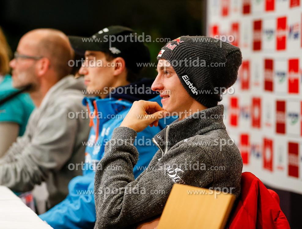 27.12.2013, Oberstdorf Haus, Oberstdorf, GER, FIS Ski Sprung Weltcup, 62. Vierschanzentournee, Offizielle Pressekonfernz, im Bild Gregor Schlierenzauer (AUT) // Gregor Schlierenzauer of Austria during official Press Conference of 62th Four Hills Tournament of FIS Ski Jumping World Cup at the Oberstdorf Haus, Oberstdorf, Germany on 2013/12/27. EXPA Pictures © 2013, PhotoCredit: EXPA/ Peter Rinderer