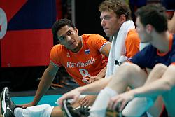 21-09-2019 NED: EC Volleyball 2019 Netherlands - Germany, Apeldoorn<br /> 1/8 final EC Volleyball / Fabian Plak #8 of Netherlands