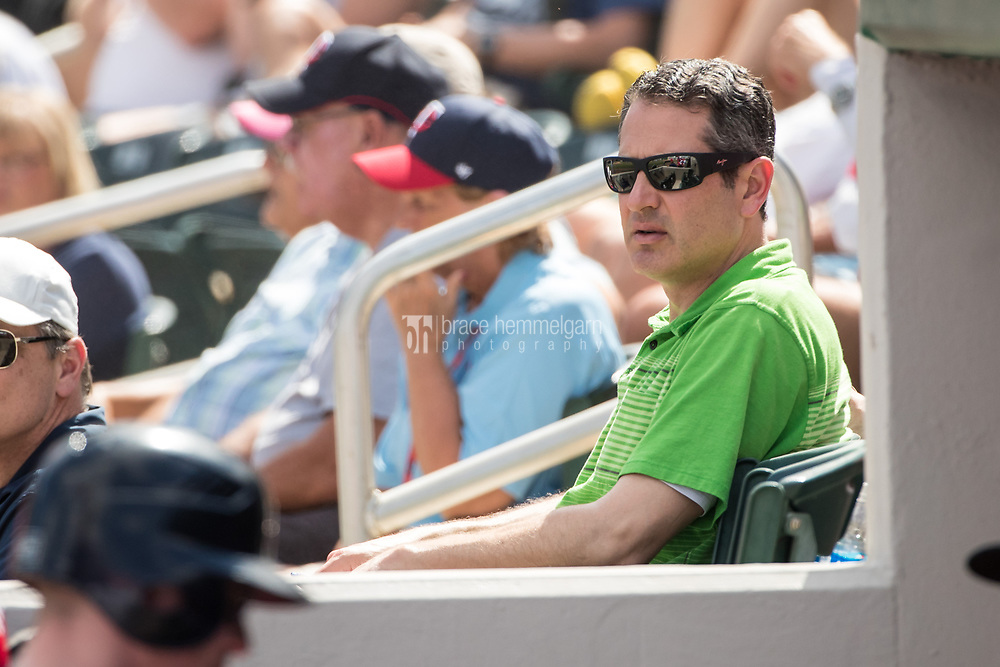 FORT MYERS, FL- FEBRUARY 27: Minnesota Twins general manager Thad Levine against the Miami Marlins on February 27, 2017 at the CenturyLink Sports Complex in Fort Myers, Florida. (Photo by Brace Hemmelgarn) *** Local Caption *** Thad Levine