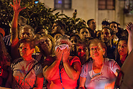 Tens of thousands of Venezuelans gather in the streets of Caracas after the announce of the death President Hugo Chavez, who died after battling against cancer at the age of 58. Caracas, March. 05, 2013 (Photo / Ivan Gonzalez)
