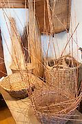 Südhessisches Handwerksmuseum im Alten Bahnhof, Korbmacher, Roßdorf, Hessen, Deutschland | South Hessen crafts museum in the old station, basket makers, Rossdorf, Hesse, Germany