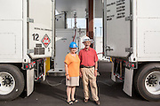 NG Advantage Co-founders Tom and Mary Evslin at their Milton compressor site.