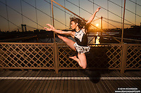 Dance As Art The New York Photography Project- Brooklyn Bridge with dancer Christina Chagaris