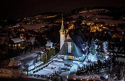 THEMENBILD - die beleuchtete Muttergottes von Fatima, aufgenommen am 17. Januar 2019 in Zakopane, Polen // the illuminated <br /> sanctuary Our Lady of Fatima, Zakopane, Poland on 2019/01/17. EXPA Pictures &copy; 2019, PhotoCredit: EXPA/ JFK