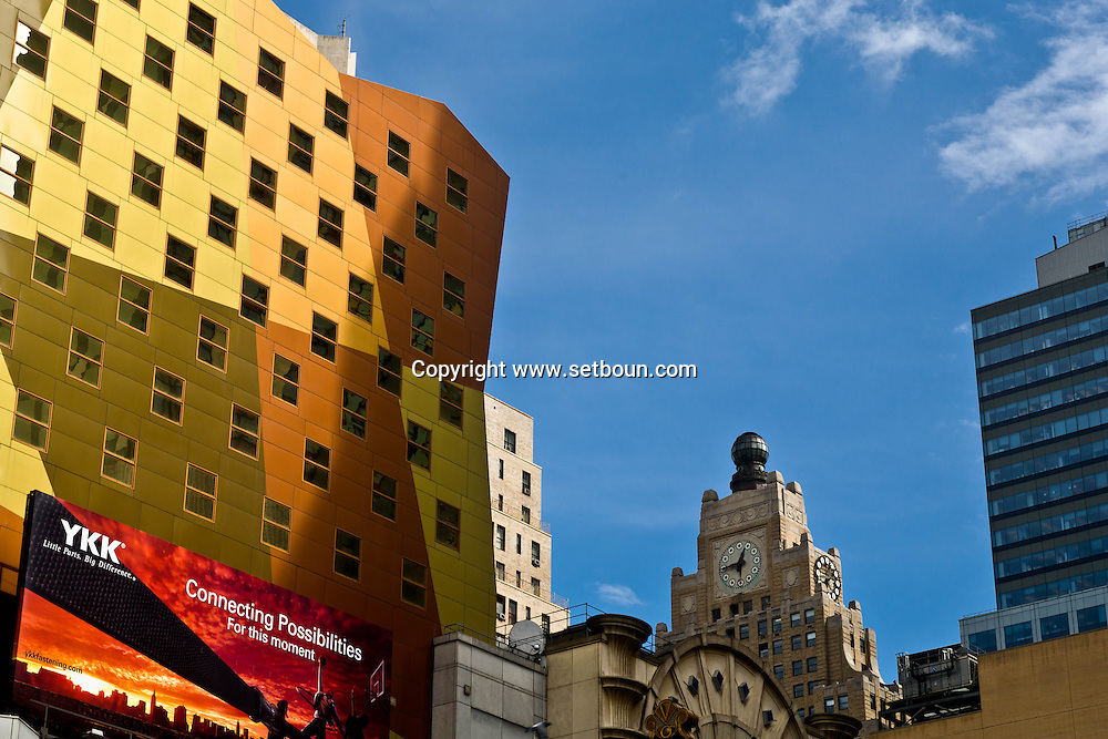 New York Times square, the  Westin hotel tower on 8th avenue . new architecture   Manhattan