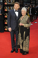 Kenneth Branagh and Dame Judi Dench attend The Olivier Awards 2016 at the Royal Opera House in London. 3rd April 2016. EXPA Pictures © 2016, PhotoCredit: EXPA/ Photoshot/ Paul Treadway<br /> <br /> *****ATTENTION - for AUT, SLO, CRO, SRB, BIH, MAZ, SUI only*****