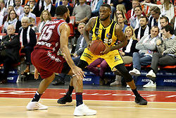 09.12.2017, Audi Dome, Muenchen, GER, EasyCredit BBL, FC Bayern Muenchen Basketball vs MHP Riesen Ludwigsburg, 12. Runde, im Bild Reggie Redding (Muenchen) blockt Elgin Cook (Ludwigsburg) // during the easyCredit Basketball Bundesliga 12th round match between MHP Riesen Ludwigsburg and 12.Spieltag at the Audi Dome in Muenchen, Germany on 2017/12/09. EXPA Pictures &copy; 2017, PhotoCredit: EXPA/ Eibner-Pressefoto/ Marcel Engelbrecht<br /> <br /> *****ATTENTION - OUT of GER*****