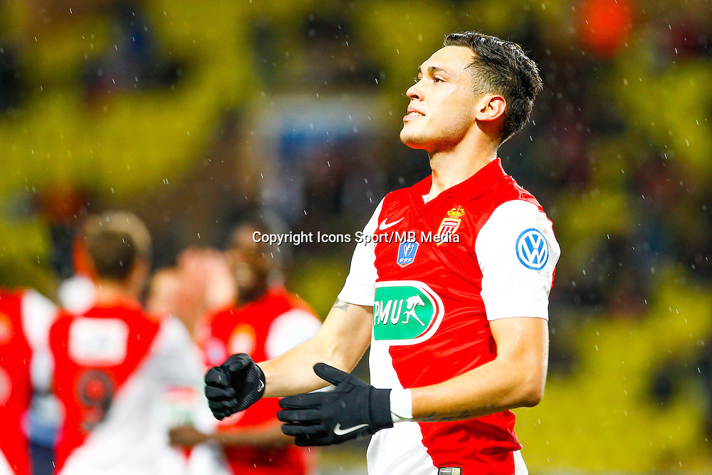 Lucas Ocampos  - 21.01.2015 - Monaco / Evian Thonon   - Coupe de France 2014/2015<br /> Photo : Sebastien Nogier / Icon Sport