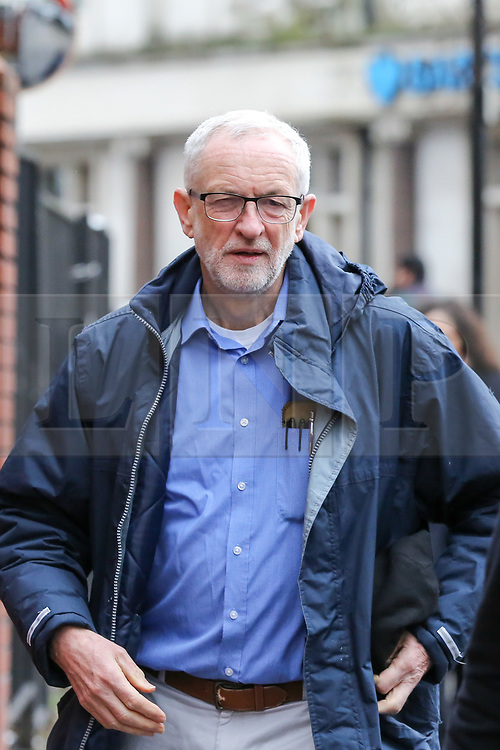 © Licensed to London News Pictures. 03/03/2019. London, UK. Labour leader Jeremy Corbyn arrives at Finsbury Park Mosque in North London for the fourth Visit My Mosque Day. Over 250 mosques open their doors to non-Muslim guests and visitors on the fourth Visit My Mosque Day. This year the national event also encourages mosques to support Keep Britain Tidy's Great British Spring Clean campaign with many already taking part in cleaning their communities. Photo credit: Dinendra Haria/LNP