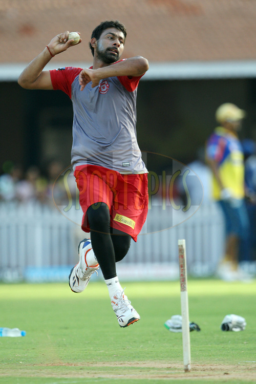 Praveen Kumar during a practice session of the Chennai Super Kings and Kings XI Punjab in the the Indian Premier League ( IPL) 2012 held at the M. A. Chidambaram Stadium, Chennai on the 27th April 2012..Photo by Jacques Rossouw/IPL/SPORTZPICS