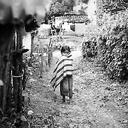 A young child in San Juan Cotzal, Guatemala.
