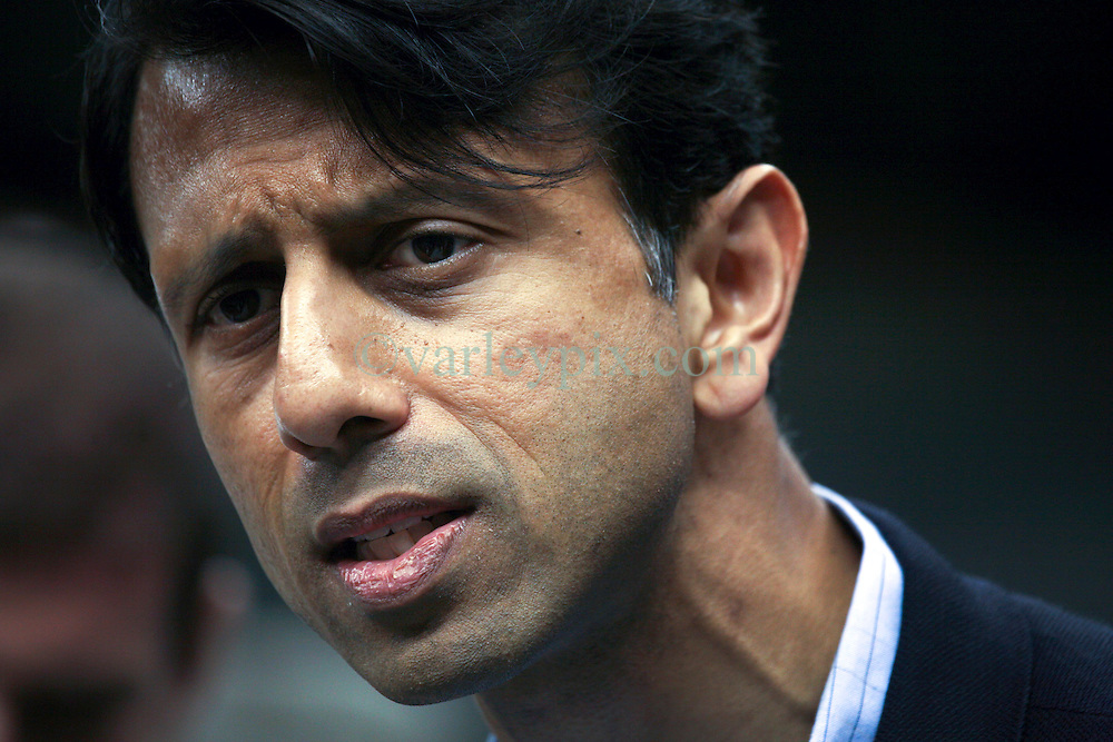 04 October 2011. New Orleans, Louisiana, USA.  <br /> Louisiana Governor Bobby Jindal. NFL's New Orleans Saints announce a multi million dollar deal with Mercedes-Benz for naming rights on the Louisiana Superdome. Now the Mercedes-Benz Superdome. <br /> Photos; Charlie Varley/varleypix.com