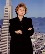 portrait with Transamerica Pyramid in background