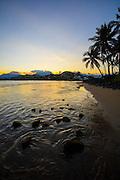 Sunset, Kailua Beach, Oahu, Hawaii