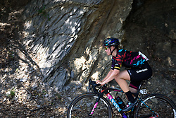 Tiffany Cromwell (CANYON//SRAM Racing) finds a little shade on the climb at Giro Rosa 2016 - Stage 6. A 118.6 km road race from Andora to Alassio, Italy on July 7th 2016.