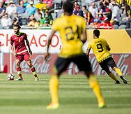 Jamaica faces Venezuela during its Group C debut matchup of the Copa America Centenario 2016 at Soldier Field in Chicago, Illinois, on June 5, 2017. The Reggae Boyz would lose 0-1 to Venezuela. The Copa America Centenario was the first time teams from CONCACAF and CONMEBOL faced each other for the championship.