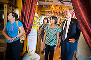 OCTOBER 2010 - MARICOPA, AZ: Terry Goddard (CQ FAR RIGHT), Democratic candidate for Governor of Arizona, waits to enter a campaign appearance at Peñascos restaurant in Maricopa, in Pinal county. Goddard lost the election to sitting Governor Jan Brewer, a conservative Republican.     PHOTO BY JACK KURTZ