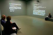 "Ecke Bonk/Germany, ""Book of Words - Random Reading"" (2002).Fridericianum exhibition site"