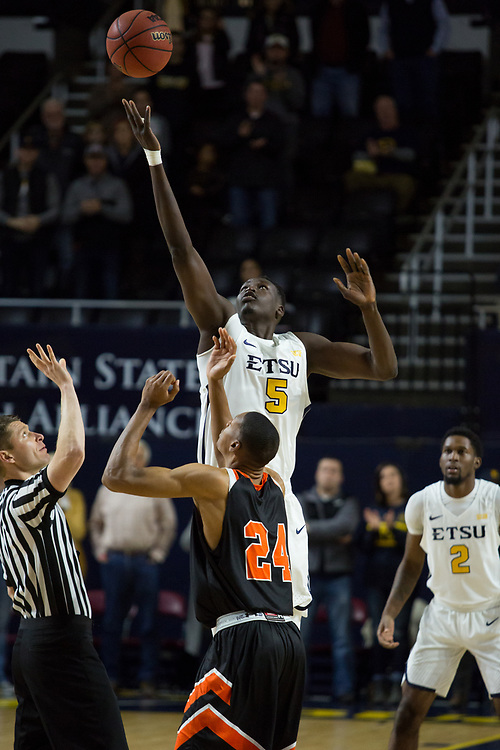December 28, 2017 - Johnson City, Tennessee - Freedom Hall: ETSU center Peter Jurkin (5)<br /> <br /> Image Credit: Dakota Hamilton/ETSU