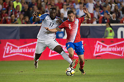 September 1, 2017 - Harrison, New Jersey, U.S - USMNT forward JOZY ALTIDORE (17) and Costa Rica defender BRYAN OVIEDO (8) fight for the ball during a World Cup qualifier match at Red Bull arena in Harrison, NJ.  Costa Rica defeats USA 2 to 0. (Credit Image: © Mark Smith via ZUMA Wire)