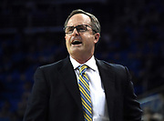 Feb 28, 2019; Los Angeles, CA, USA; UCLA Bruins head coach Murry Bartow reacts in the first half against the Southern California Trojans at Pauley Pavilion. UCLA defeated USC 93-88 in overtime.