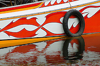 Detail of long tailed boat, Kanchanaburi, Thailand